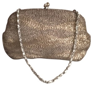 Walborg Glass Beads Evening Vintage Silver Clutch