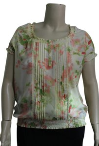 Gloria Vanderbilt Top Yellow Floral