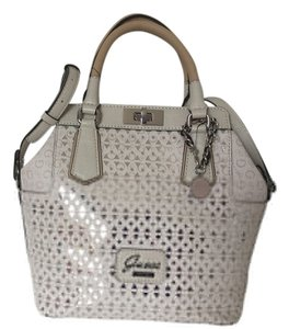 Guess Satchel in Cement Silver