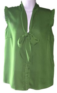 Tulle Button Down Shirt Green