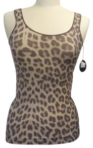 Shimera Top Brown and Tan Animal Print