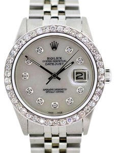 Rolex 36MM MEN'S ROLEX DATEJUST S/S 2.5 CT DIAMONDS WATCH