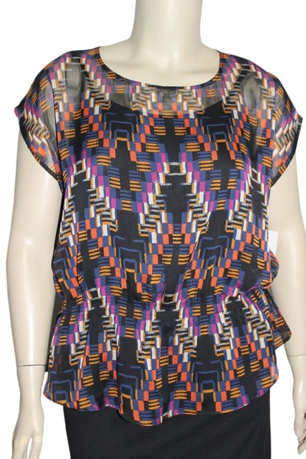 Liz Claiborne Top Black Multi