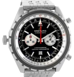 Breitling Breitling Chronomatic Chronograph Left Crown Watch A41360 Box Papers
