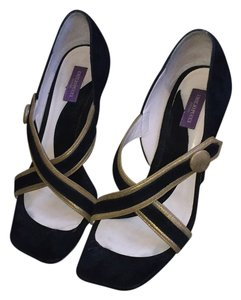 Emilio Pucci Black and gold Sandals