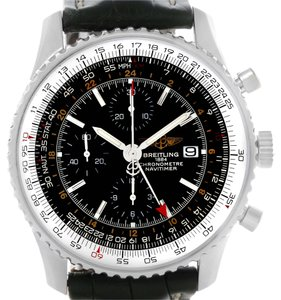 Breitling Breitling Navitimer World Chronograph GMT Steel Watch A24322