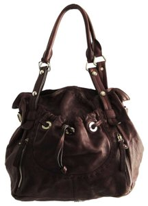 B. Makowsky Leather Slouchy Tote Shoulder Bag