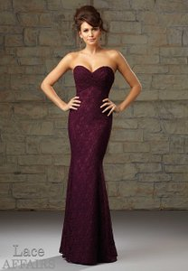 Mori Lee NEVER WORN Navy Blue Lace Affairs Bridesmaids 726 Dress