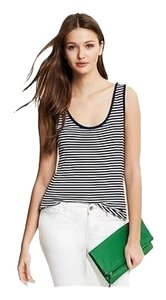 Banana Republic Jersey Top Navy and White