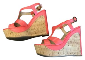 Guess Cork Wedge Coral Sandals