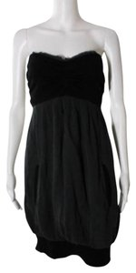 YaYa Aflalo short dress Black Silk Strapless on Tradesy
