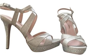 De Blossom Collection Heels Grey Prom Silver Sandals