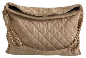 Chanel Chain Nude Tote in Beige