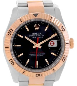 Rolex Rolex Thunderbird Turnograph Steel 18k Rose Gold Watch 116261