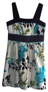 Dress Barn short dress White with floral print on Tradesy