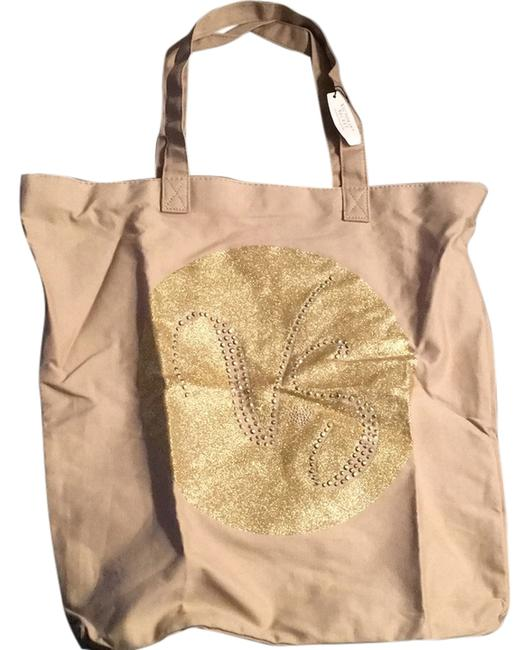 Item - Tan/Gold Beach Bag