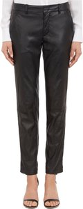 Vince Leather Trouser Pants Black