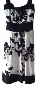 Speechless short dress White with black floral print on Tradesy
