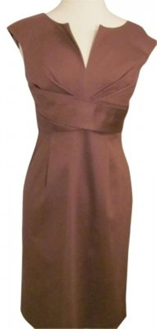 Donna Ricco short dress BROWN on Tradesy