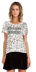 PAM & GELA T Shirt leopard distressed