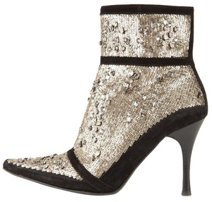 Donald J. Pliner Black and Sequin Boots