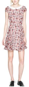 Zara short dress white/floral on Tradesy