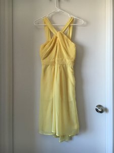 Tevolio Sassy Yellow Halter Neck Chiffon Dress Dress