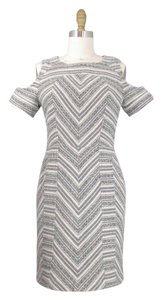 Pendleton short dress Gray and White Open Shoulder on Tradesy