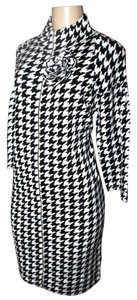 Adrienne Vittadini short dress Black/White on Tradesy
