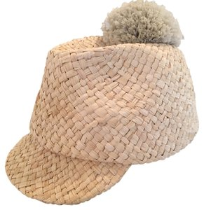 41022c00d57 Burberry Prorsum Burberry Prorsum Straw Runway Cap With Pom Pom