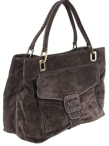 f125cc9902d1 Roger Vivier Suede Belted Shopping Tote in Brown