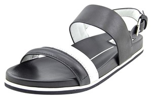 Dolce Vita Strappy Summer Black/White Leather Sandals