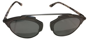 Dior Rare Dior So Real Leather Gunmetal Havana Sunglasses