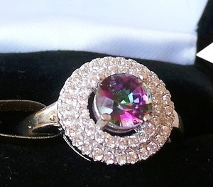 Other Rainbow Topaz Cocktail Ring Size 8 NEW