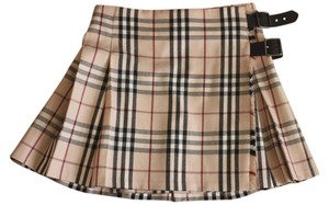 Burberry Burberry London Classic Plaid Pleated Mini Skirt UK 8 US 6 Made in Scotland Wool