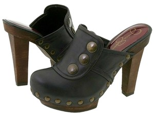 Jessica Simpson Brown Dark brown, espresso, wood Mules