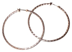 Betsey Johnson Betsey Johnson Silver Hoops