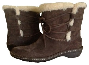 UGG Australia Suede Rianne Brown Boots