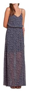 Navy Floral Maxi Dress by Hollister