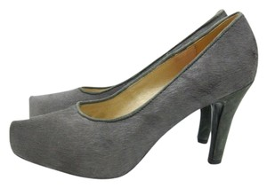 Zoe Kratzmann Pony Hair Suede Leather gray Pumps