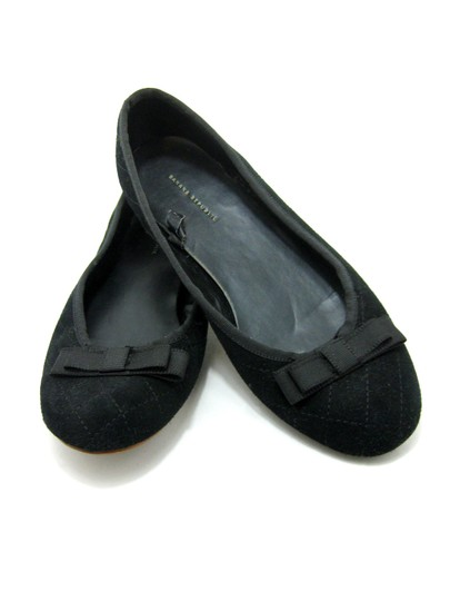 Banana Republic Quilted Suede black Flats