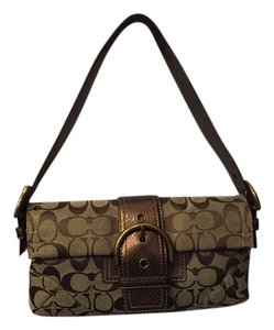 Coach Snakeskin Flap Signature Shoulder Bag