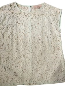 Ann Taylor LOFT Lace Top Mint