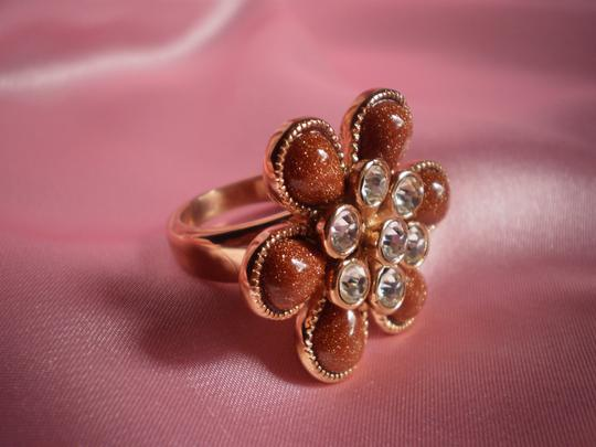 Other Goldstone, Austrian Crystals in ION Plated RG Stainless Steel (Size 9)