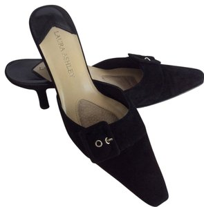 Laura Ashley Black Mules