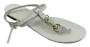 Burberry Leather Sandal Cream Flats