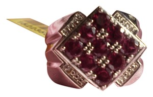 KARIS Collection KARIS Collection - Orissa Rhodolite Garnets, Diamonds in Platinum Bond Brass (Size 11)