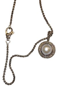 David Yurman Petite Cerise Pendant with Pearl and Diamonds on Chain