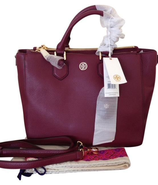 Item - Robinson Pebbled Square Deep Berry Tote