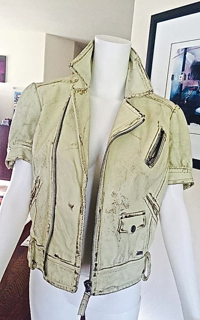 Miss Sixty vintage white Leather Jacket